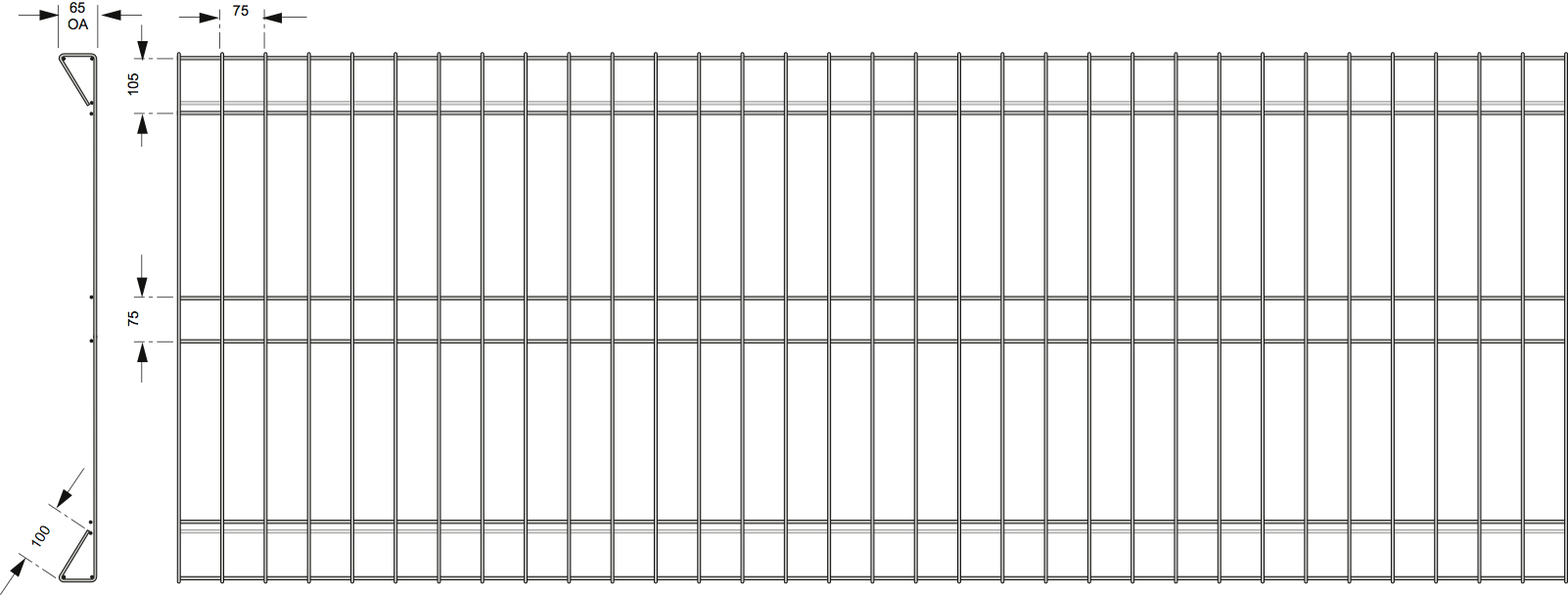 Rolled Top Mesh Fencing | Metal Mates