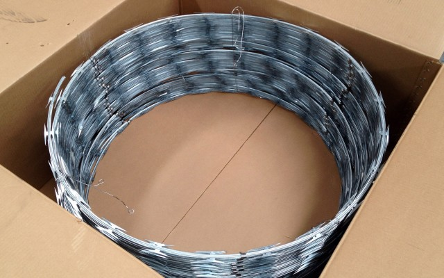 Razor Wire packaged ready for delivery