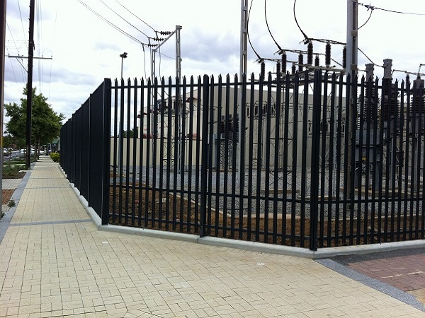 Palisade Fence to Power Station