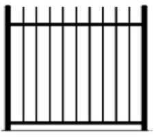 Rod Top Pool Fencing