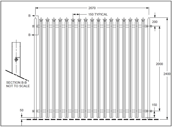 PROMAX PALISADE FENCE PANEL