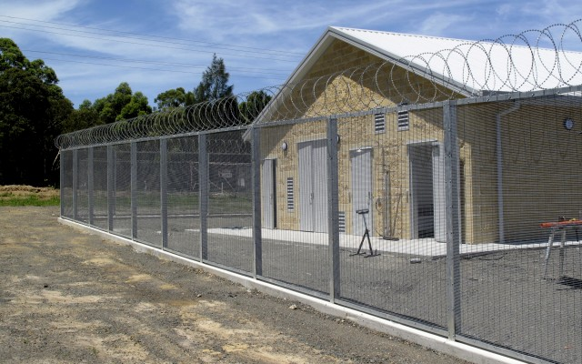 Perimeter Fencing securing the Utilities building