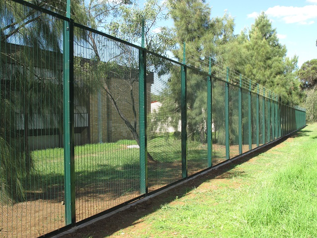 School Fencing with Barbed Wire