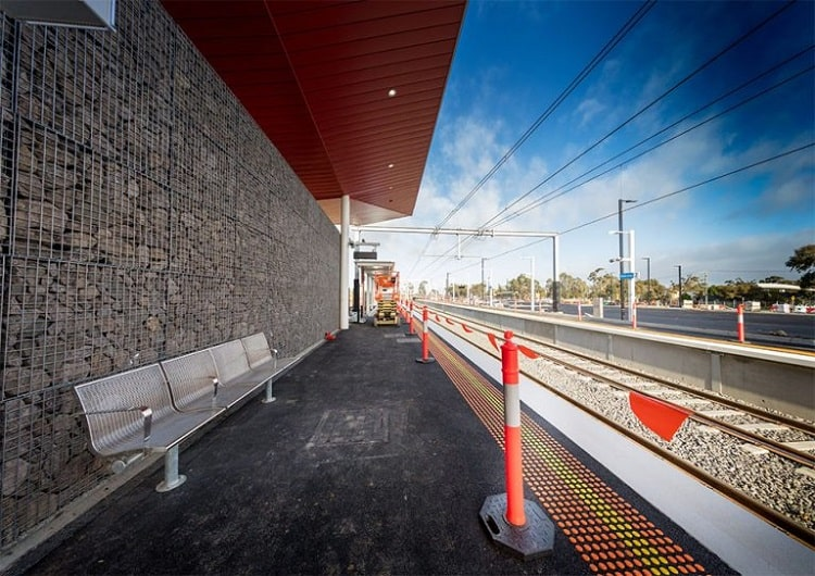 Profence supplied steel and mesh wire panels for the brand new Mernda Rail extension in Melbourne