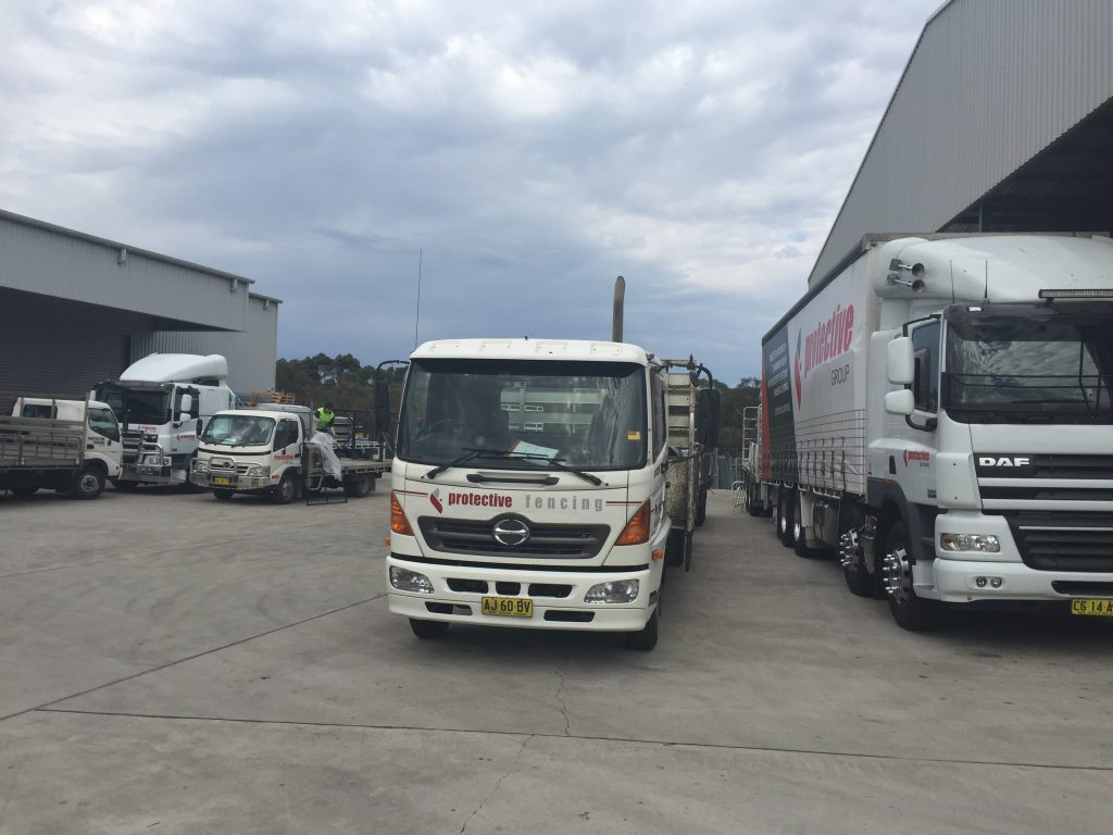 Our own fleet of 7 trucks including HIAB facilities for site delivery