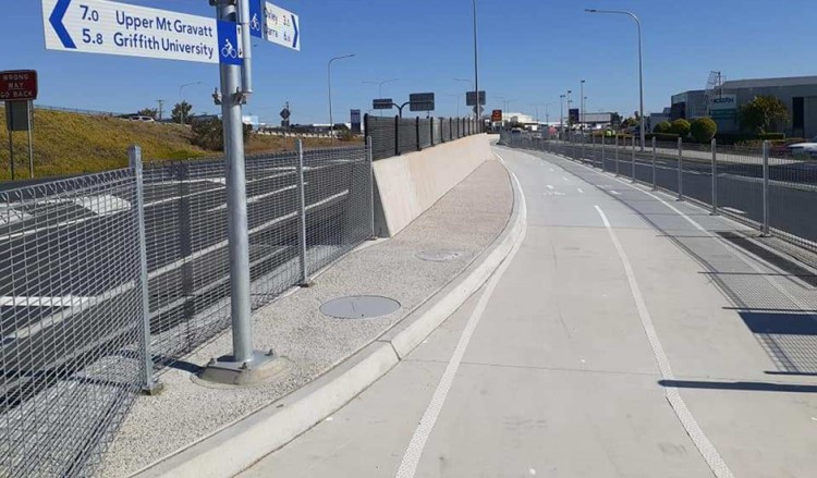 Protective Fencing's close space roll-top steelmesh panels are custom designed for cycle paths and walkways.